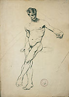 Study of a nude youth, jakobides