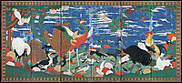 Birds, Animals, and Flowering Plants in Imaginary Scene, jakuchu