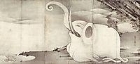 Elephant and Whale (diptych), jakuchu