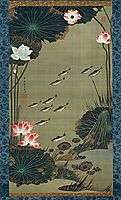 Lotus Pond and Fish, 1765, jakuchu