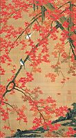 Maple Tree and Small Birds, jakuchu