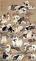 One Hundred Dogs, 1799, jakuchu