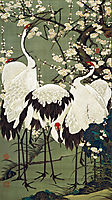 Plum Blossoms and Cranes, jakuchu