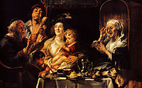 As the Old Sang, So the young Pipe, 1638, jordaens