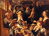 As the Old Sang, So the young Pipe, 1640, jordaens