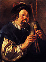 Self-Portrait as a Bagpipe Player, 1644, jordaens
