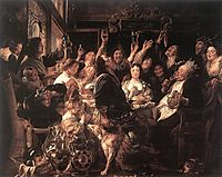The Bean King, c.1655, jordaens