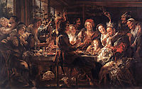 The Bean King, c.1645, jordaens
