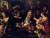 The Bean King (The King Drinks), 1638, jordaens