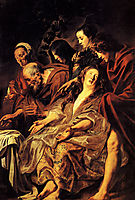 The disciples at the tomb, 1625, jordaens