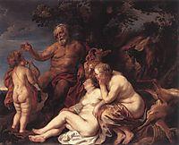 Education of Jupiter, jordaens