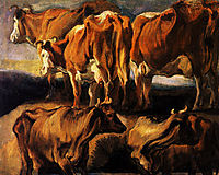 Five studies of cows, 1624, jordaens