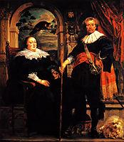 Govaert van Surpele and his wife, 1639, jordaens