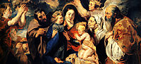 The Holy Family and child St. John the Baptist, jordaens