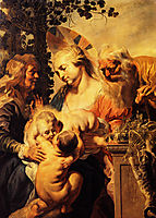 Holy Family with Elizabeth and Child John the Baptist , 1615, jordaens