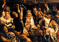 King Drinks, 1640, jordaens