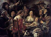 The King Drinks , 1640, jordaens