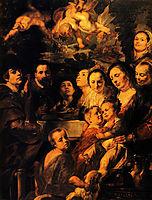 Portrait of Jordaens family, jordaens