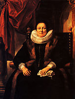 Portrait of a lady sitting in a chair, jordaens