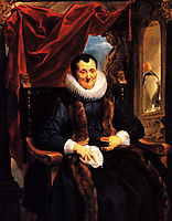 Portrait of Magdalena de Cuyper, 1636, jordaens