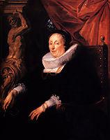Portrait of the wife of Johan Wierts  , 1635, jordaens