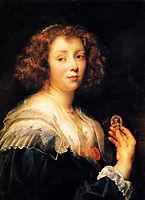 Portrait of a young lady, 1638, jordaens