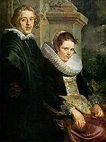 Portrait of a Young Married Couple, 1620, jordaens
