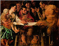 Satyr and Peasant, 1620, jordaens