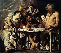 The Satyr with the Peasants, 1620, jordaens