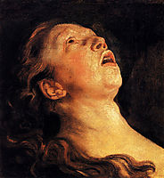 Study of the head of Apollo, jordaens