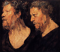 Two studies of the head of Abraham Grapheus, 1621, jordaens