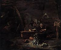 Interior of a Kitchen, 1644, kalf