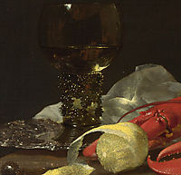 Still Life with Drinking-Horn (detail), kalf