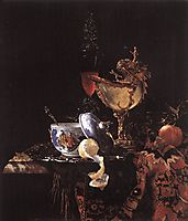 Still-Life with a Nautilus Cup, 1662, kalf