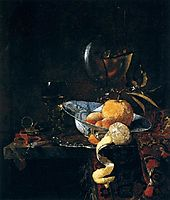 Still-Life with Porcelain and a Nautilus Cup, 1660, kalf