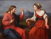Christ and the Samaritan woman at the well, 1796, kauffman