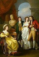 Family portrait of Catherine Petrovna Baryatinskiy, kauffman