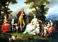 Ferdinand IV of Naples and his family, 1783, kauffman