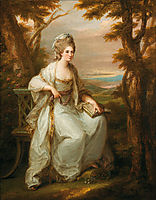 Portrait of Anne Loudon, Lady Henderson of Fordall, 1771, kauffman