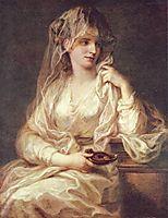 Portrait of a Woman as a Vestal Virgin, c.1787, kauffman