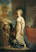 Portrait of a Woman as a Vestal Virgin, c.1775, kauffman