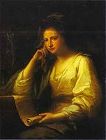 Portrait of a Young Woman as a Sibyl, kauffman