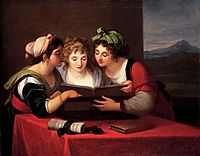 Three singers, 1795, kauffman