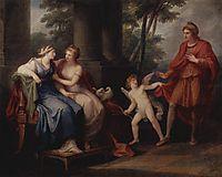 Venus convinces Helen to hear Paris, 1790, kauffman