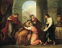 Virgil Reading the Aeneid to Augustus and Octavia, kauffman