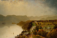 View from Cozzen-s Hotel near West Point, N.Y., 1863, kensett