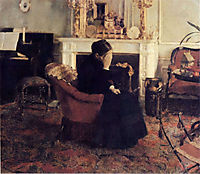 Listening to Schumann, 1883, khnopff