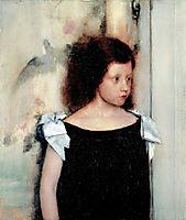 Portrait of gabrielle braun, 1886, khnopff
