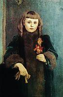 Portrait of Yvonne Seys, 1890, khnopff