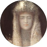 The Silver Tiara, 1911, khnopff